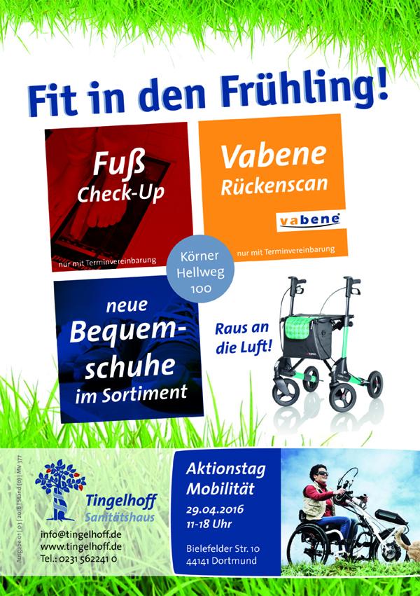 Sanitätshaus Tingelhoff veranstaltet Aktionstag Mobilität