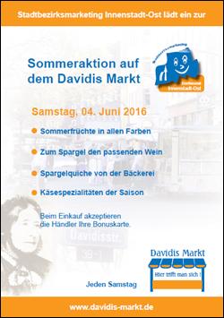Sommeraktion auf dem Davidis Markt am 04.06.2016