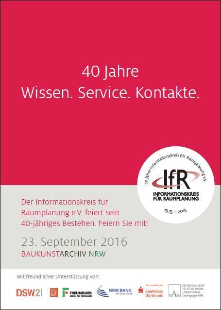 40 Jahre Informationskreis Raumplanung: Jubiläumsfeier im Baukunstarchiv mit OB Ullrich Sierau
