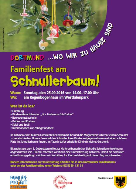 """Familienfest am Schnullerbaum zum """"Tag der Zahngesundheit"""""""
