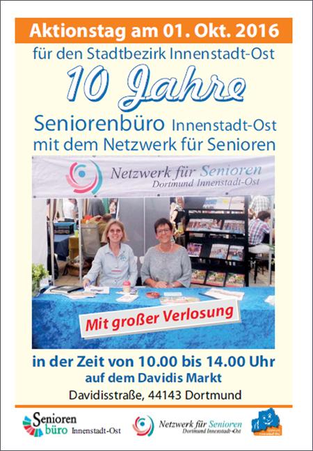 """""""10 Jahre Seniorenbüro"""": Aktionstag auf dem Davidis Markt"""