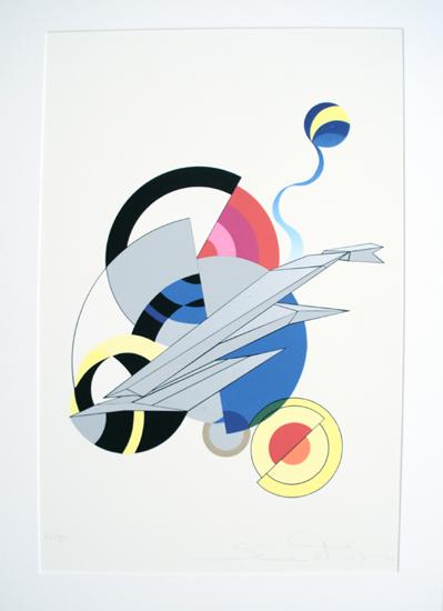 Simon et Bruno, Siebdruck, 2004, `Event`, 56/99, sign., 56 x 76 cm