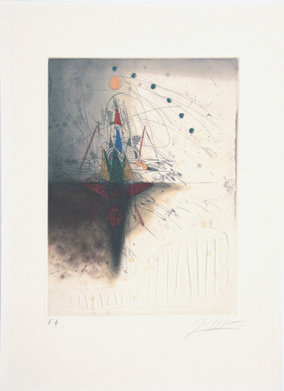 Georges Dussau, Prägeradierung, EA, sign., 28 x 37,5 cm