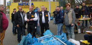 Die Aktiven waren sich einig: Die Müllsammelaktion war ein voller Erfolg, (Foto: Heinz-Dieter Düdder)