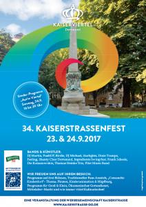 Das Plakat zum 34. Kaiserstraßenfest