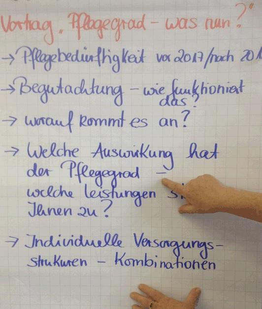 """Vortrag im Altenzentrum Bruder-Jordan-Haus zum Thema: """"Pflegegrad – was nun?"""""""