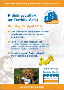 Das Plakat zum Frühlingsauftakt am Davidis Markt