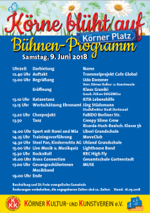 Das Bühnen-Programm