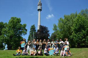 Die Schülerinnen und Schüler der 6. Klasse der Geschwister-Scholl-Gesamtschule freuen sich auf die Musikprojektwoche im Westfalenpark (Foto: Westfalenpark)