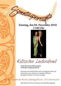 Keltischer Liederabend am 04.11.2018 in der Paul-Gerhardt-Kirche