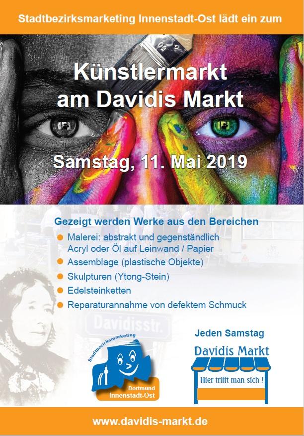 """Plakat """"Künstlermarkt"""""""
