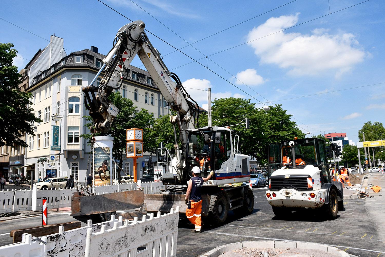 Ostwall-Bauarbeiten werden pünktlich zum Kirchentag fertiggestellt