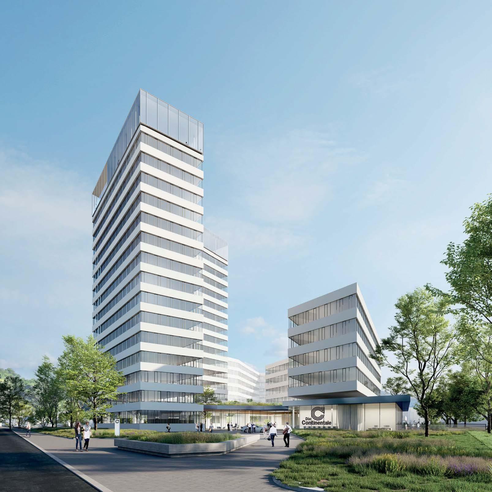 Architektenwettbewerb für den Neubau der Continentale auf der Stadtkrone Ost ist abgeschlossen