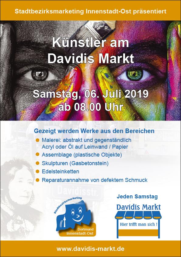 Künstler am Davidis Markt am 06.07.2019
