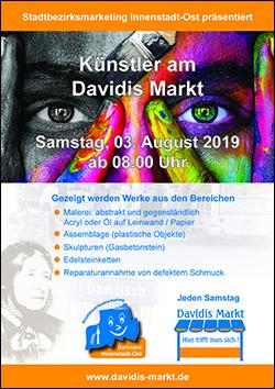 Künstler am Davidis Markt am 03.08.2019