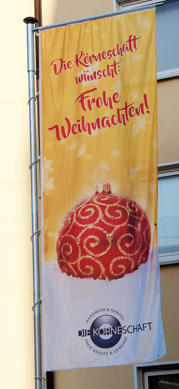 Körner Weihnachtsfahne