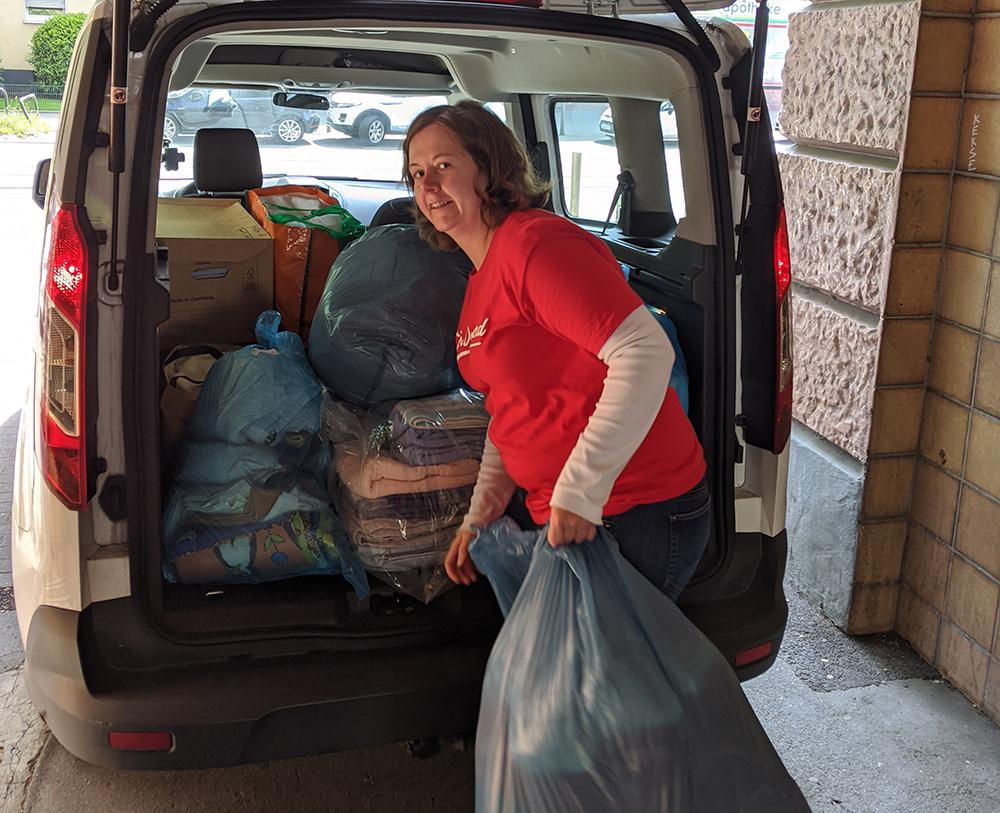 Christina Alexandrowiz freut sich über die große Spendenbereitschaft