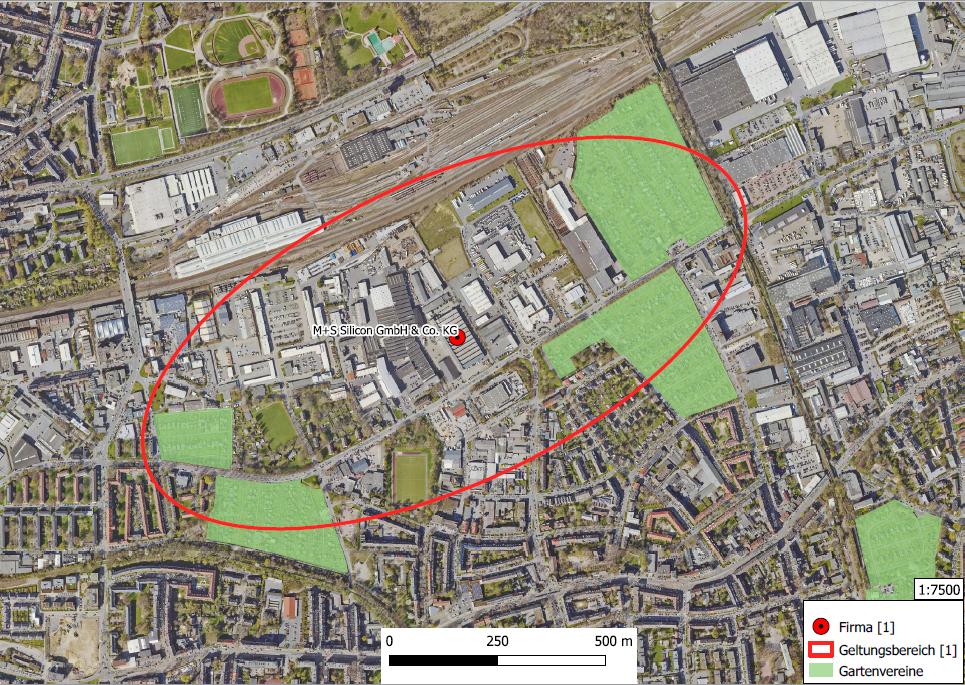 Lageplan mit dem betroffenen Gebiet