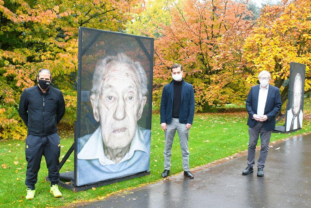 Luigi Toscano (Fotograf), Markus Günnewig (Steinwache), Klaus Kaiser (Ministerium Kultur u Wissenschaft NRW)