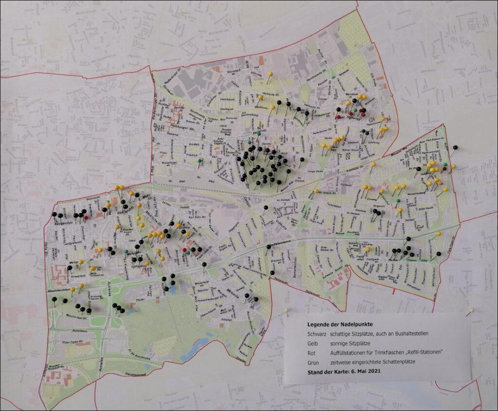 Die Stadtbezirkskarte, Vergrößerung durch Mausklick auf die Karte (PDF)