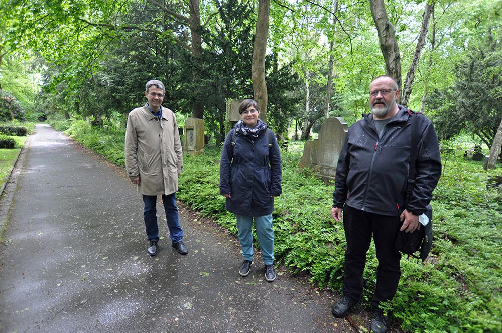 V.l. Dr. Stefan Mühlhofer, Christina Steuer, Klaus Winter von der Stadt Dortmund / Kador