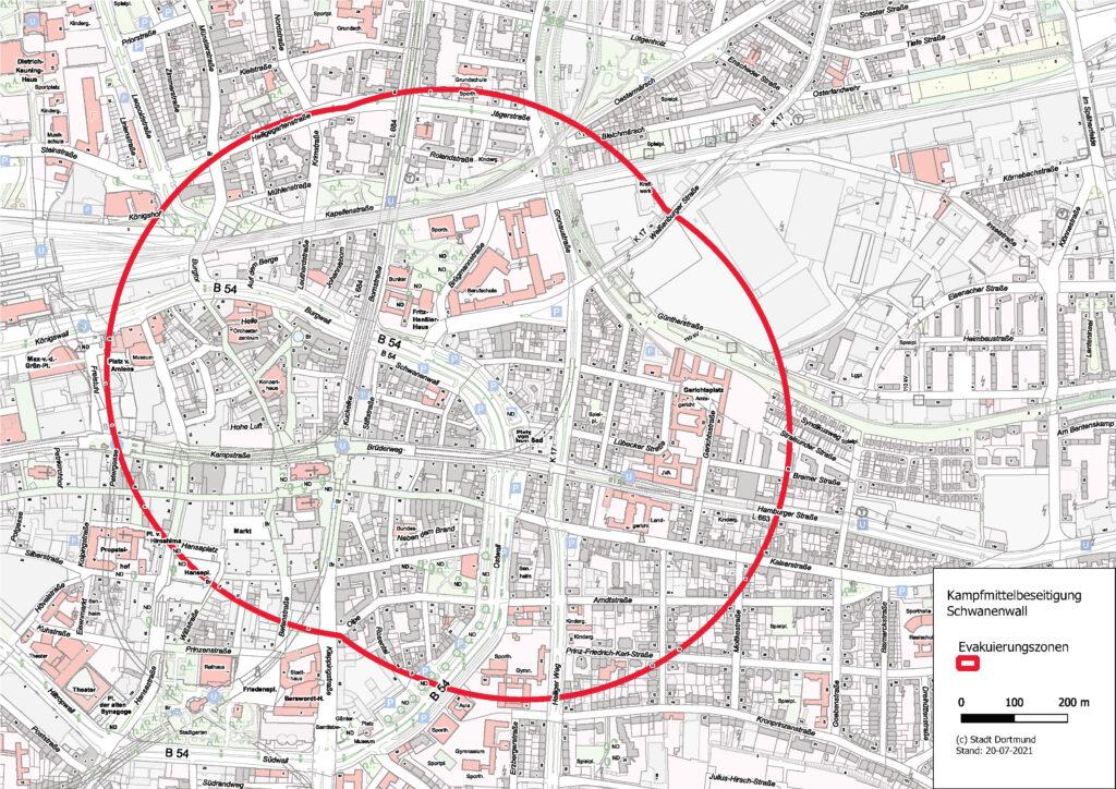Karte mit dem vorläufigen Maximal-Radius, für den Fall, dass sich schließlich alle 4 Punkte bestätigen.