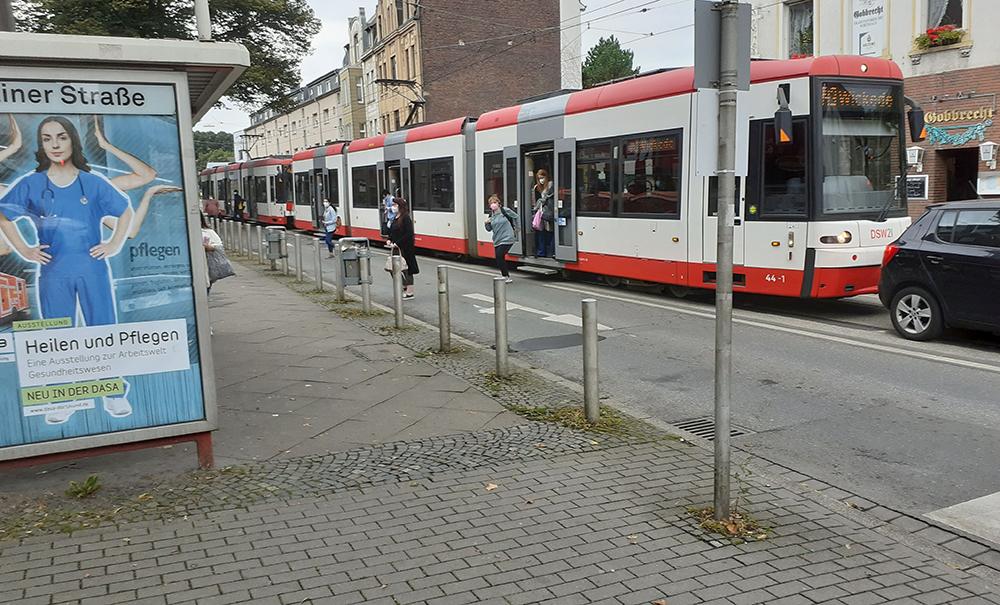 Haltestelle Berliner Straße, Foto: Heinz-Dieter Düdder